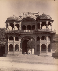 Sikandra. Suraj Bhan Bagh. Entrance gate to the garden from the Agra road